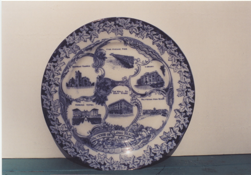 Long Beach souvenir plate